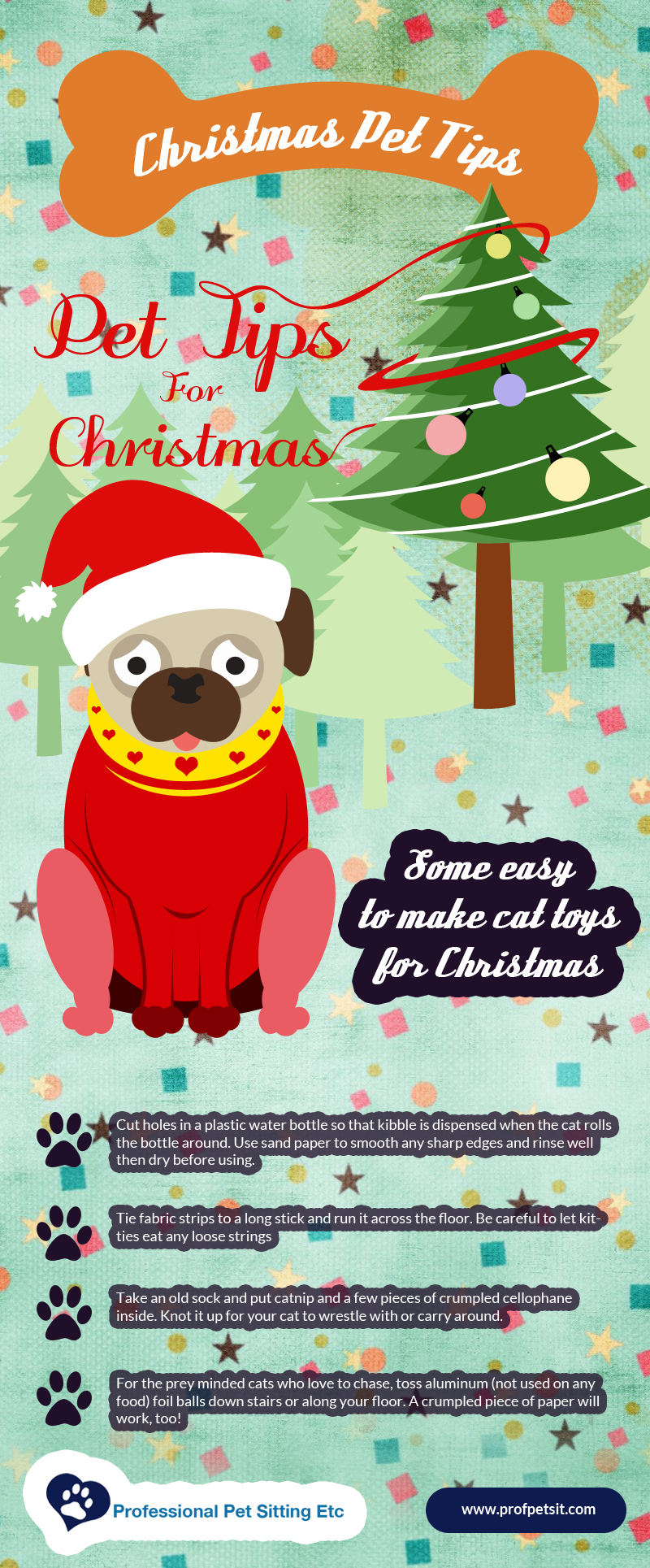 info graphic christmas pet tips professional pet sitting etc