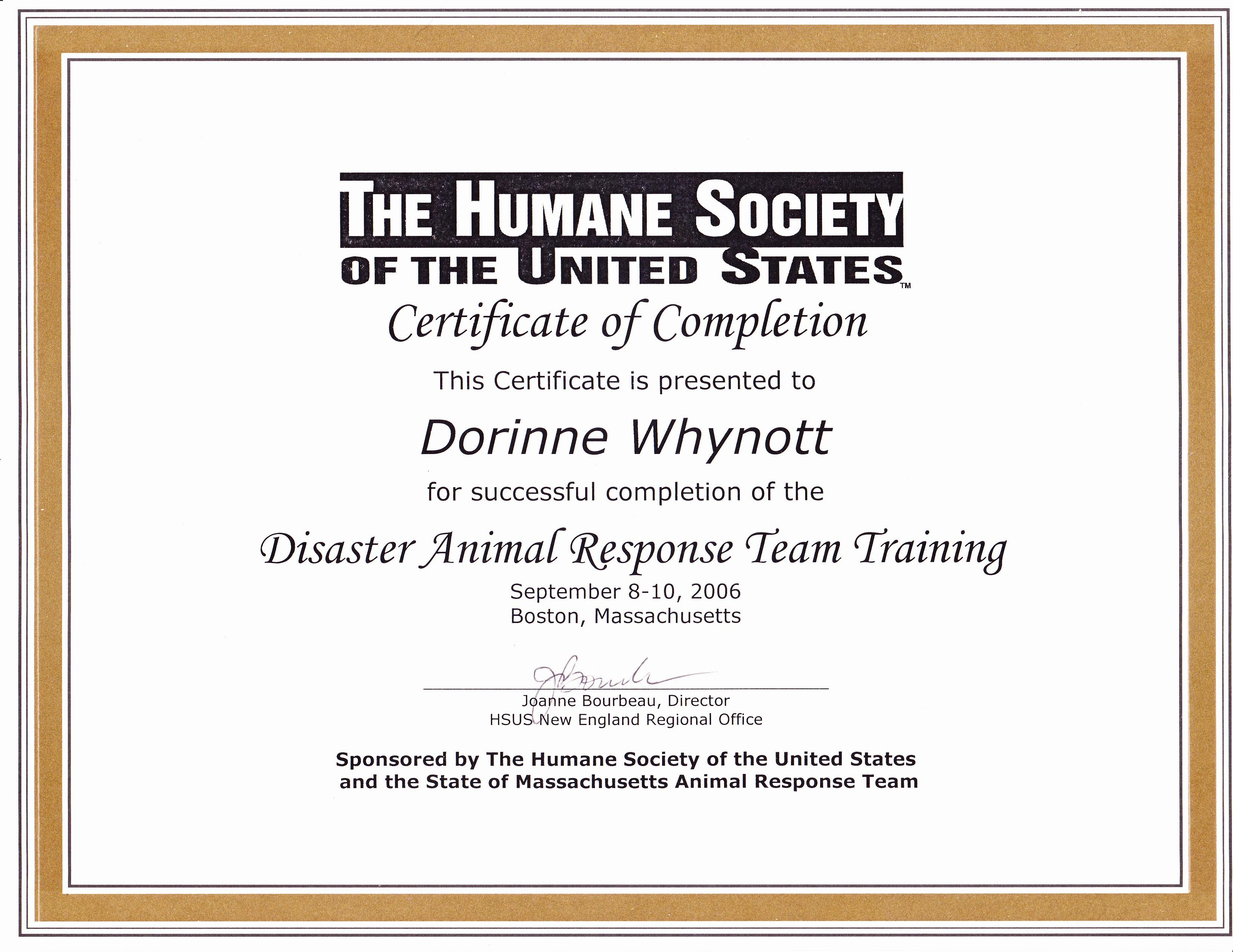 HSUS Disaster Team 2006